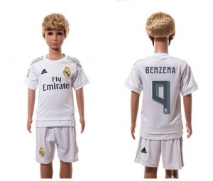 Ninos Camiseta del 9 Real Madrid Home 2015/2016