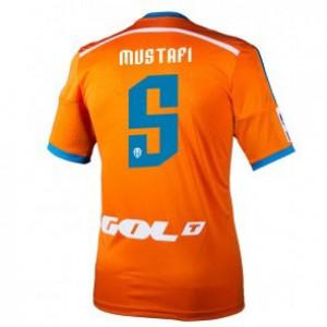 Camiseta de Valencia 2014/2015 Segunda Shkodran Mustafi Equipacion