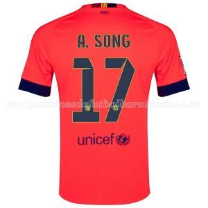Camiseta nueva del Barcelona 2014/2015 A.Song Segunda