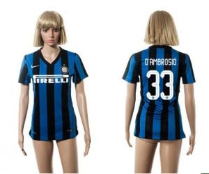 Mujer Camiseta del 33 Inter Milan 2015/2016