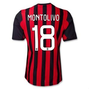 Camiseta del Montolivo AC Milan Primera Equipacion 2013/2014
