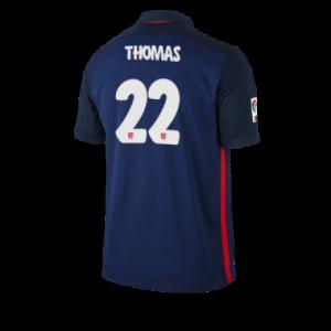 Camiseta nueva del Atletico Madrid 2015/2016 Equipacion THOMAS Segunda