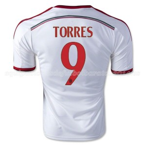Camiseta nueva AC Milan Torres Equipacion Segunda 2014/2015